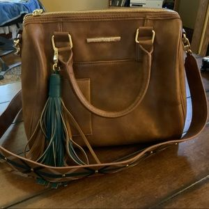 Steve Madden faux leather satchel handbag